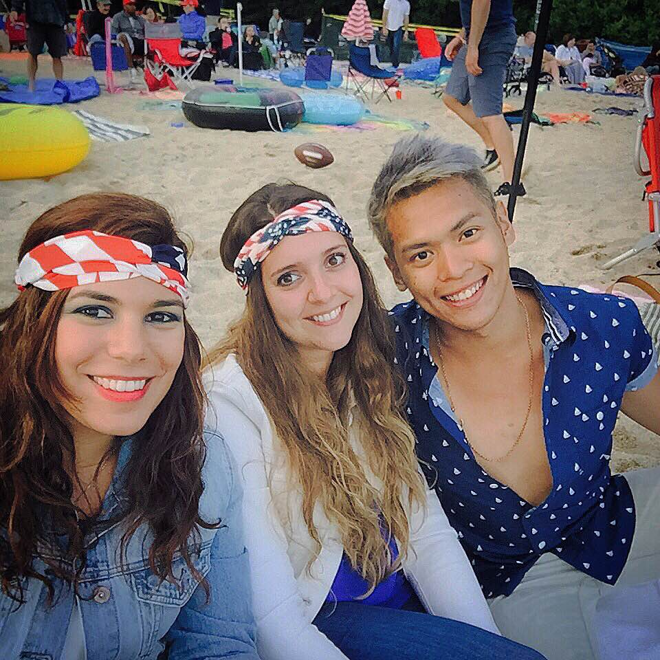 A Spanish, a German and a Filipino celebrating their first 4th of July in Lake Tahoe. #blessed