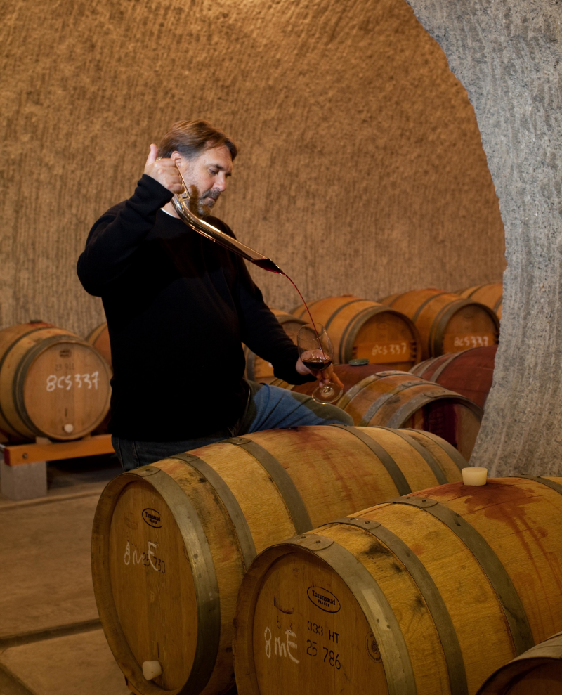 Proprietor of Hourglass Vineyards, Jeff Smith.Photo courtesy of Kent Hanson.