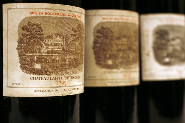 Bottles of Chateau Lafite. Photo courtesy of Jing Daily.
