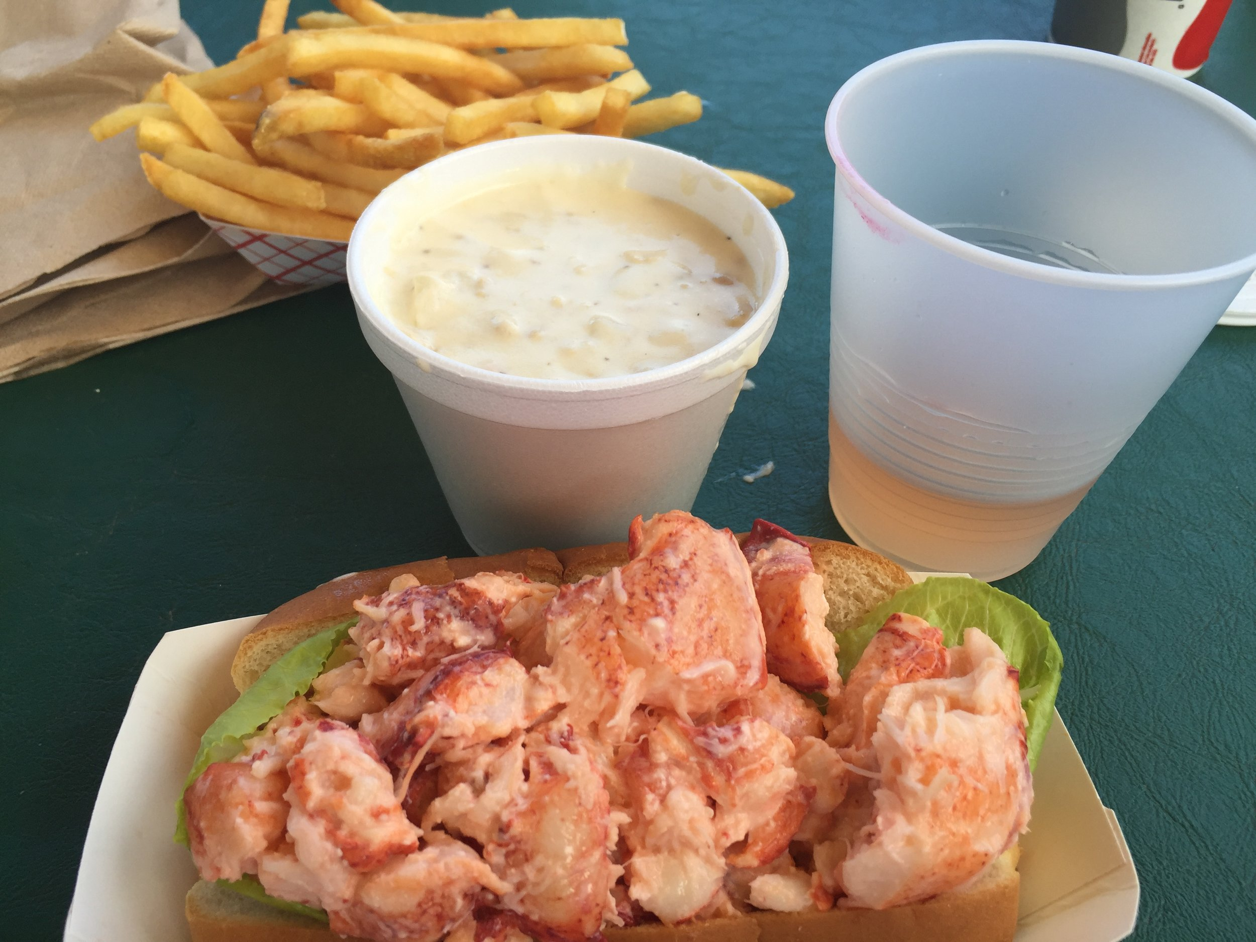 Lobster roll from  Arnold's Lobster in Eastham, MA. Photo courtesy of Kimberly Charles.