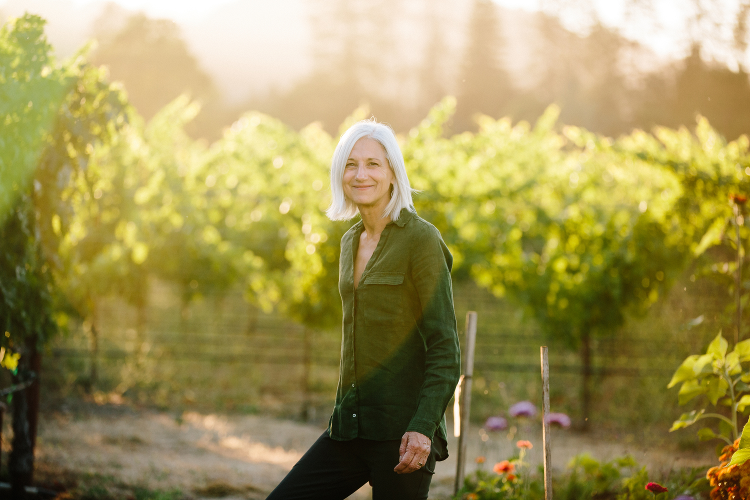Rosemary Cakebread on her Saint Helena estate. Photo courtesy of Meg Smith.
