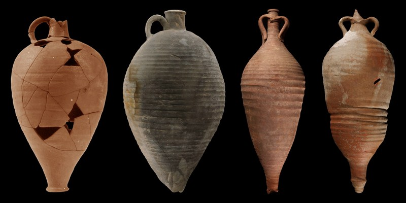 Examples of ancient amphorae. Photo courtesy of oeai.com.