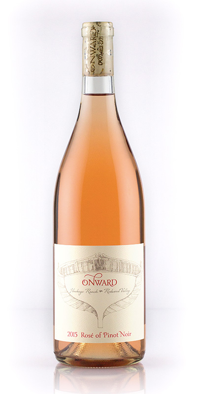 Faith Armstrong's Pinot Noir rosé. Photo courtesy of Onward Wines.