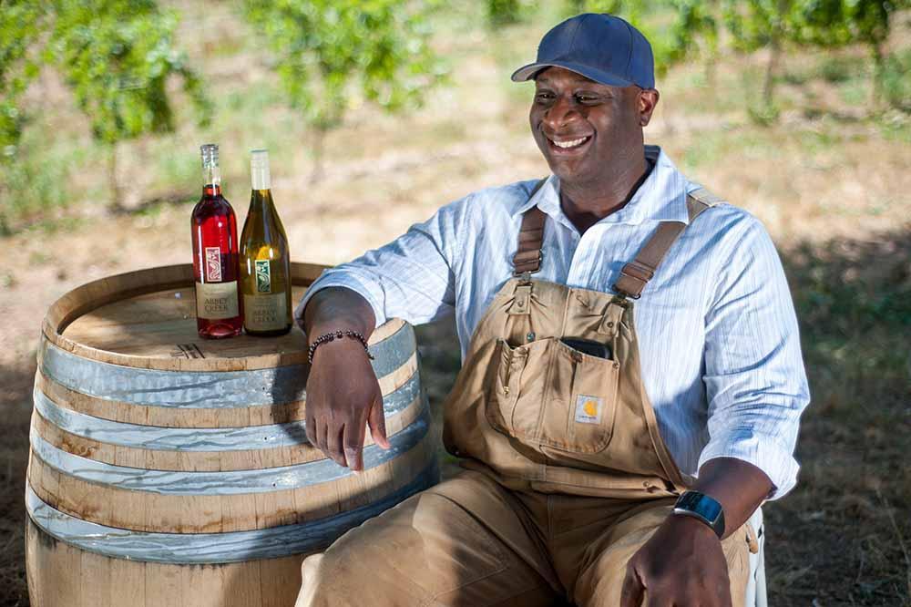Bertony Faustin, winemaker and proprietor of Abbey Creek Vineyard. Photo courtesy of Street Roots.