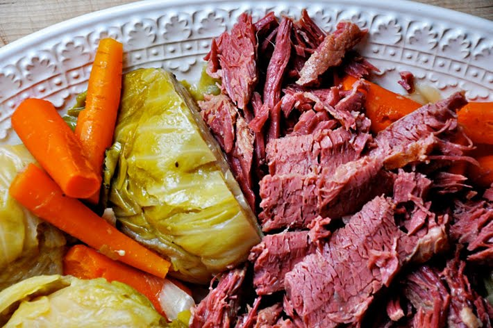 The quintessential St. Patrick's Day dish: corned beef and cabbage. Photo courtesy of The Parsley Thief.