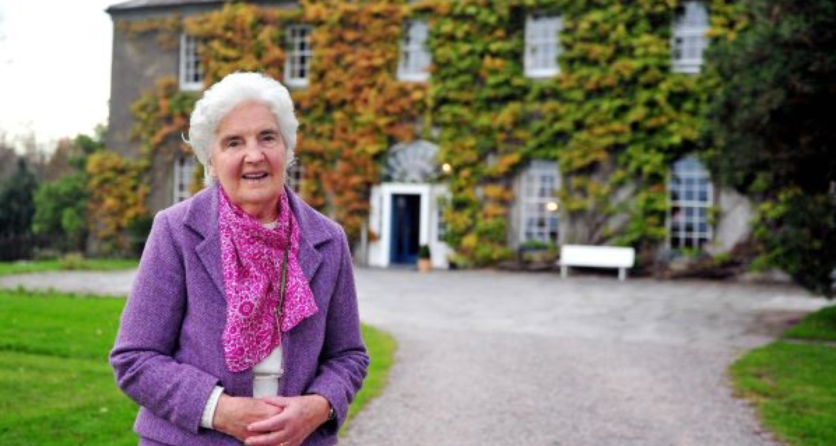 Myrtle Allen in front of Ballymaloe House. Photo courtesy of Slow Food Ireland.