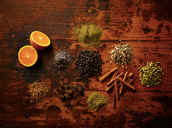 Various botanicals for gin distilling. Photo compliments of Gin Foundry.