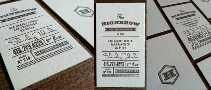 Ask about high quality letterpress pieces for your invites or business cards!
