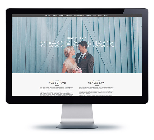 Wedding & Event Websites -
