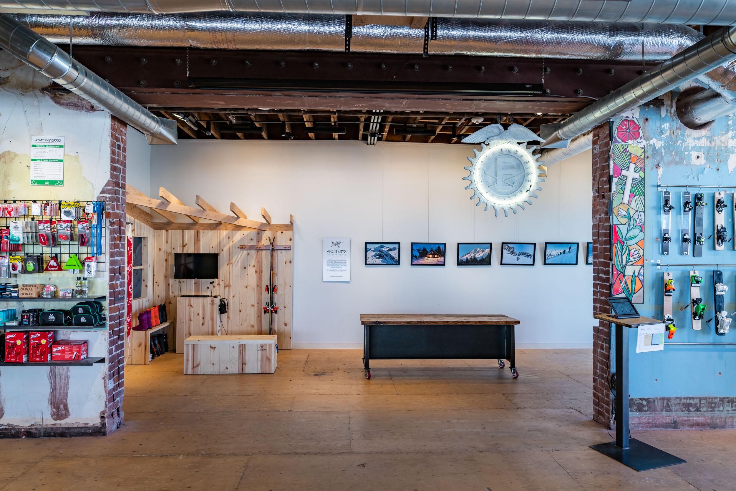 Portland EVO store: Arc'teryx Hut Magic Installation 2019, photos supplied for gallery