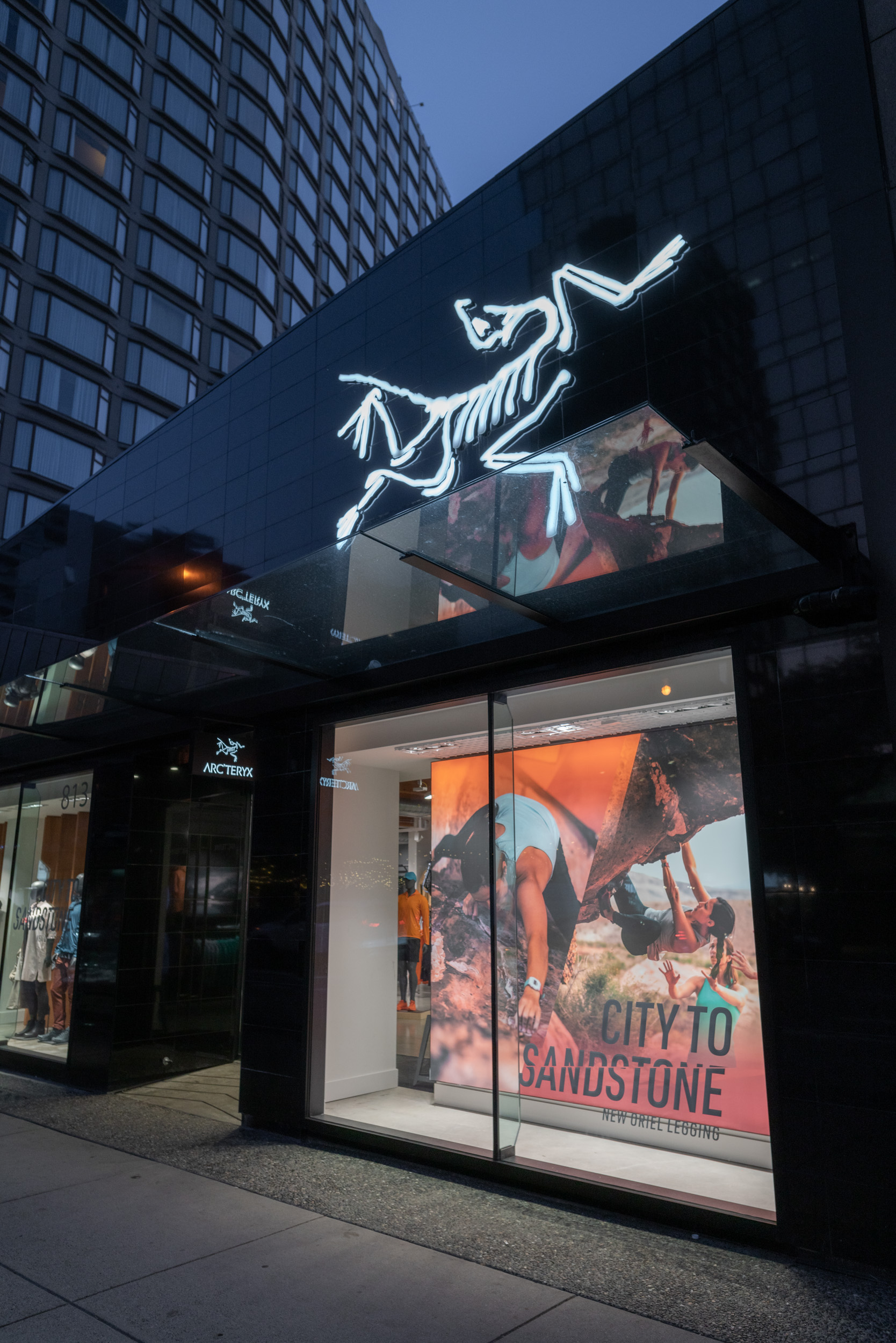 Lead Campaign Imagery for Window Display: Arc'teryx Brand Store, Burrard Street, Vancouver, BC, Canada