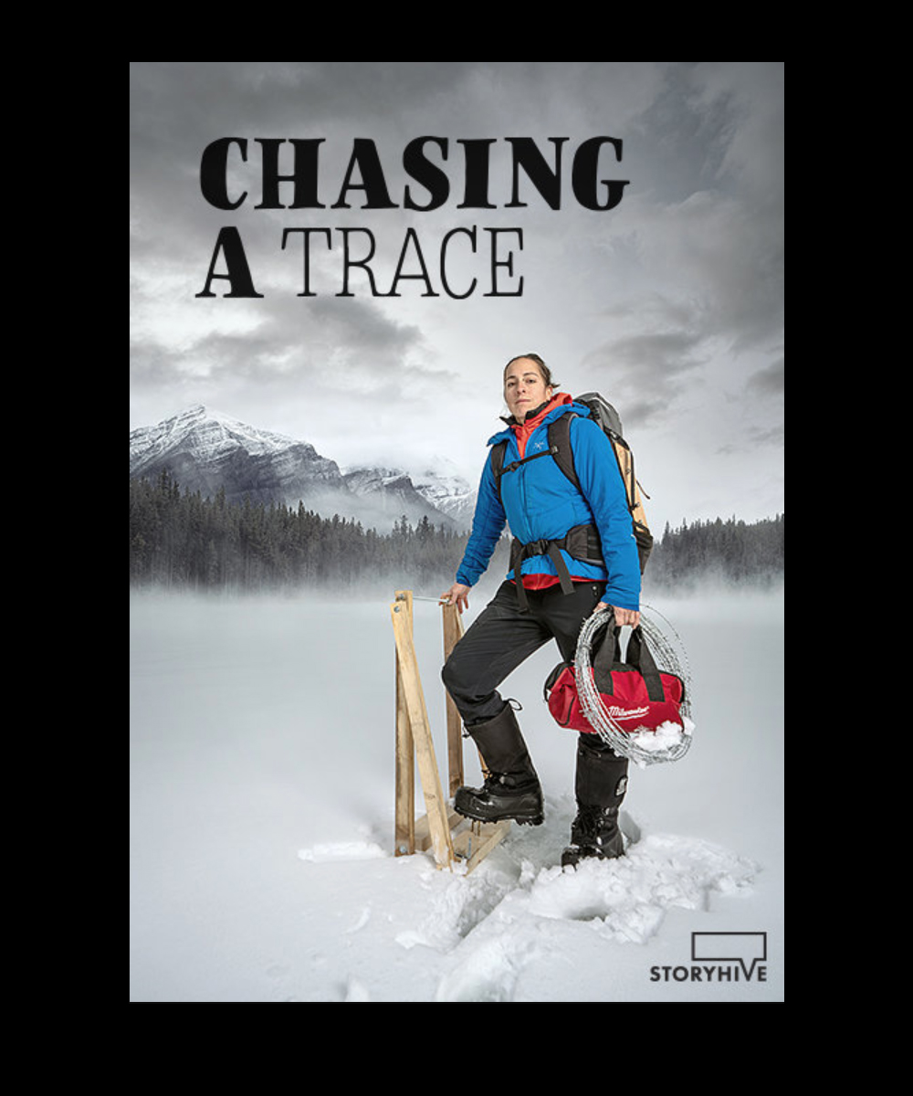 Cinematographer for Telus Storyhive project Chasing A Trace, directed by Leanne Allison. Supporting photograph for film poster.
