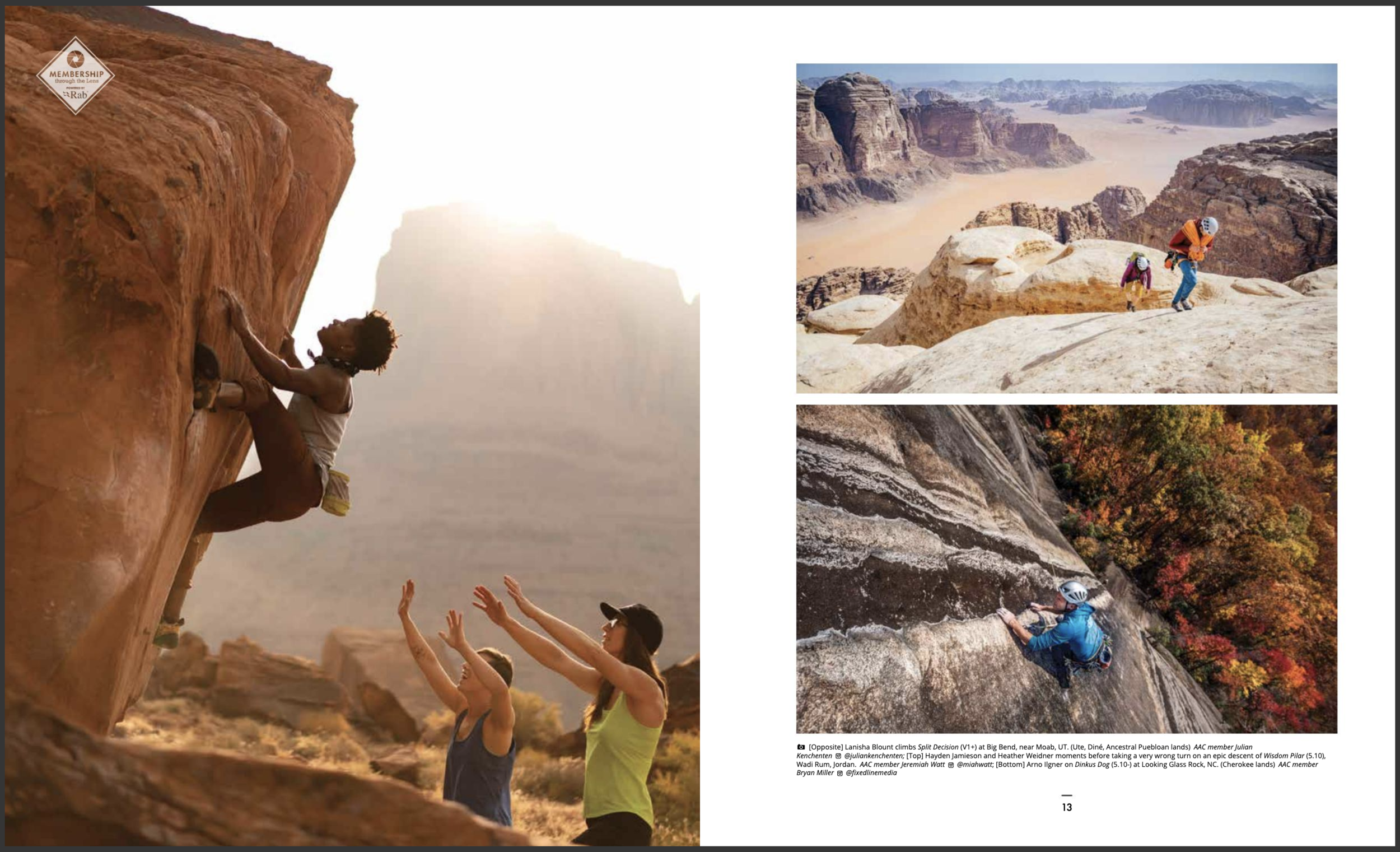 The American Alpine Club's Guidebook to Membership 2019 (left photo)
