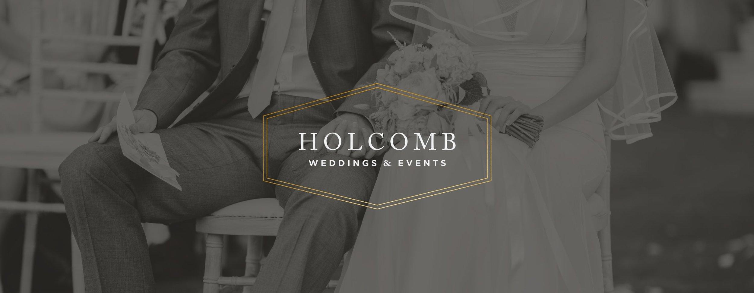 Holcomb Weddings & Events | Logo Design | Samantha Madeo Design