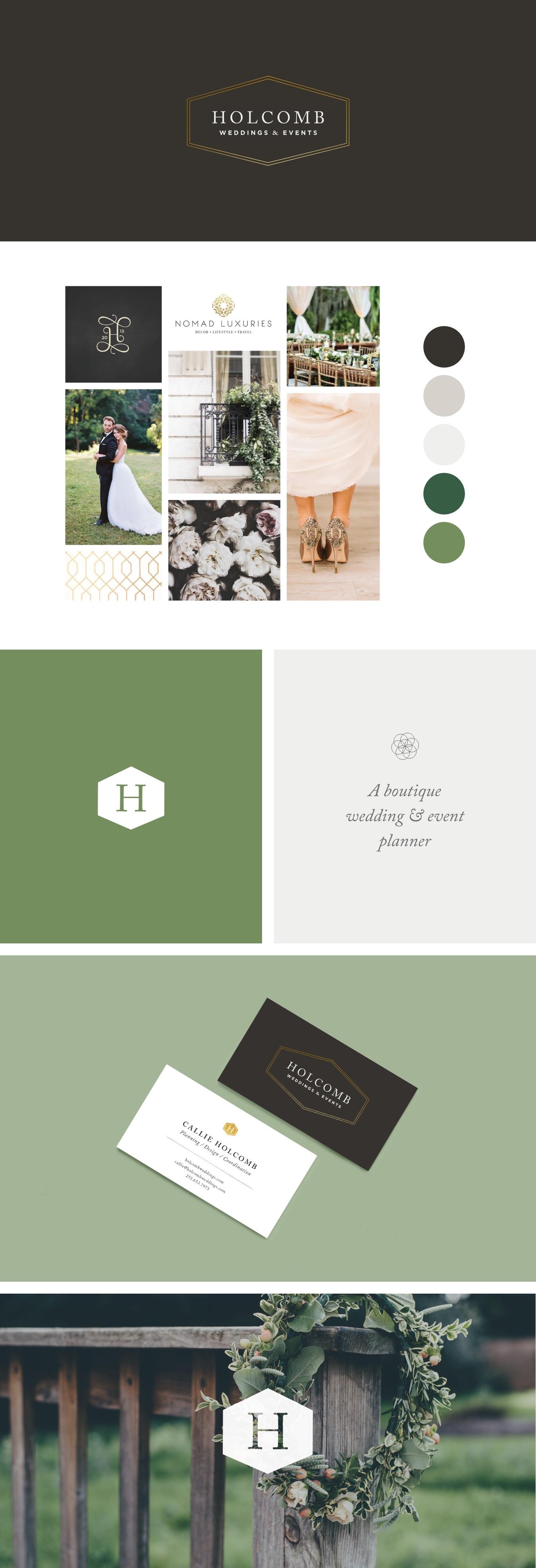 Holcomb Weddings & Events | Brand Design | Samantha Madeo Design