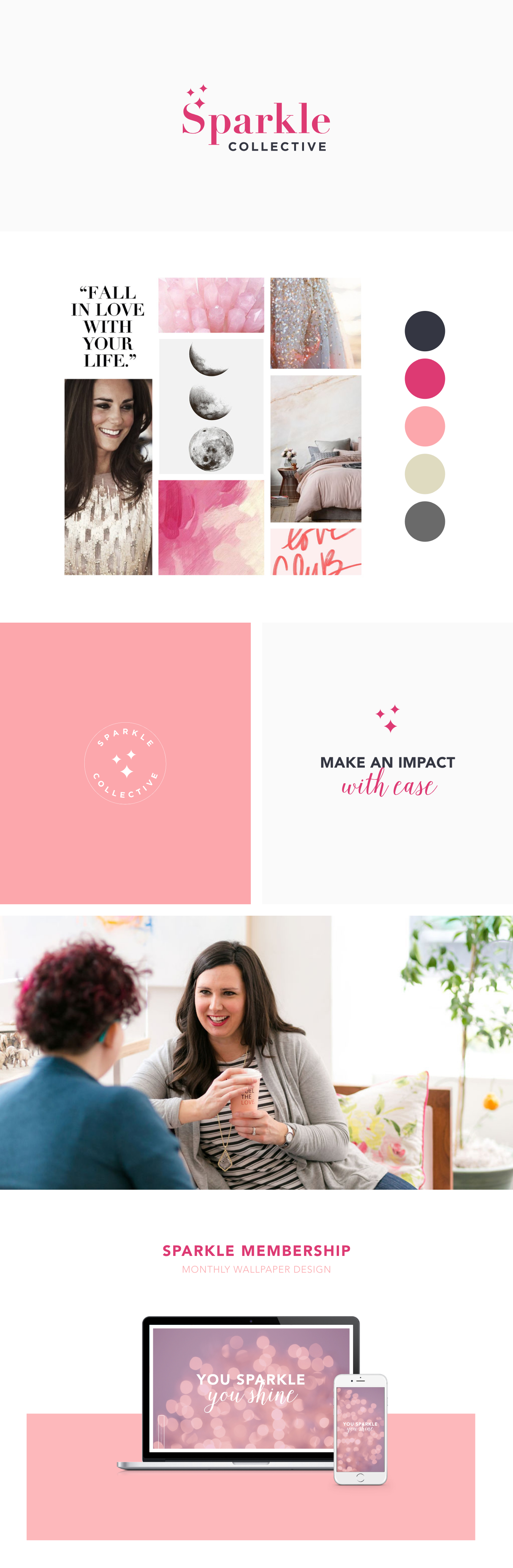 Sparkle Collective | Brand Design | Inspiration | Logo Design | Samantha Madeo Design