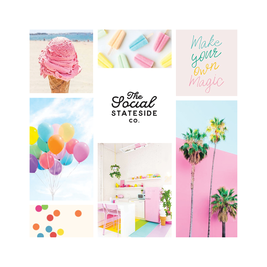 Bright, vibrant, summer color inspiration | Moodboard | Samantha Madeo Design