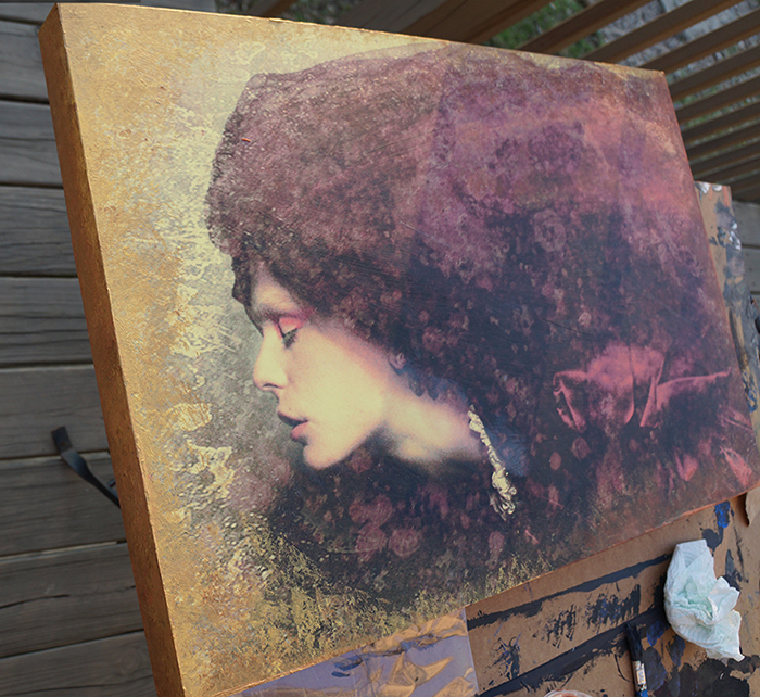 """Paint and acrylic gel- enhanced version of """"Echo"""" by Thomas Dodd"""