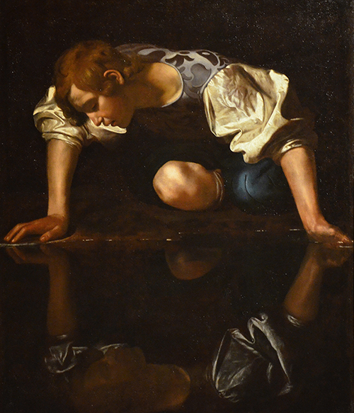 """Narcissus"" by Caravaggio"