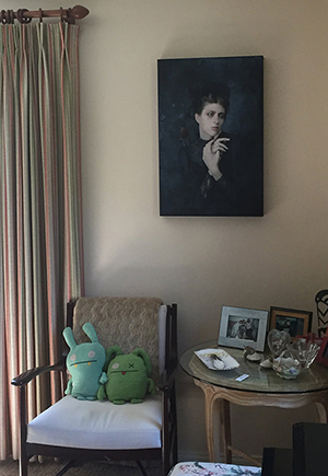 "My limited edition print ""A Little Bird Told Me"" in a private collector's home"