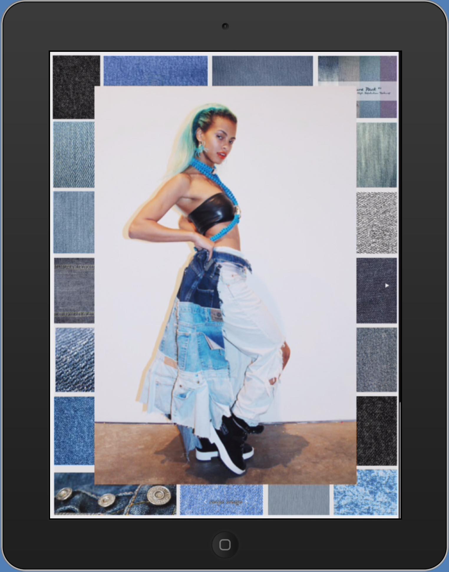 Bullet Magazine by Dana Boulos & styled by Amelian Kashiro  (DENIM CAPE)