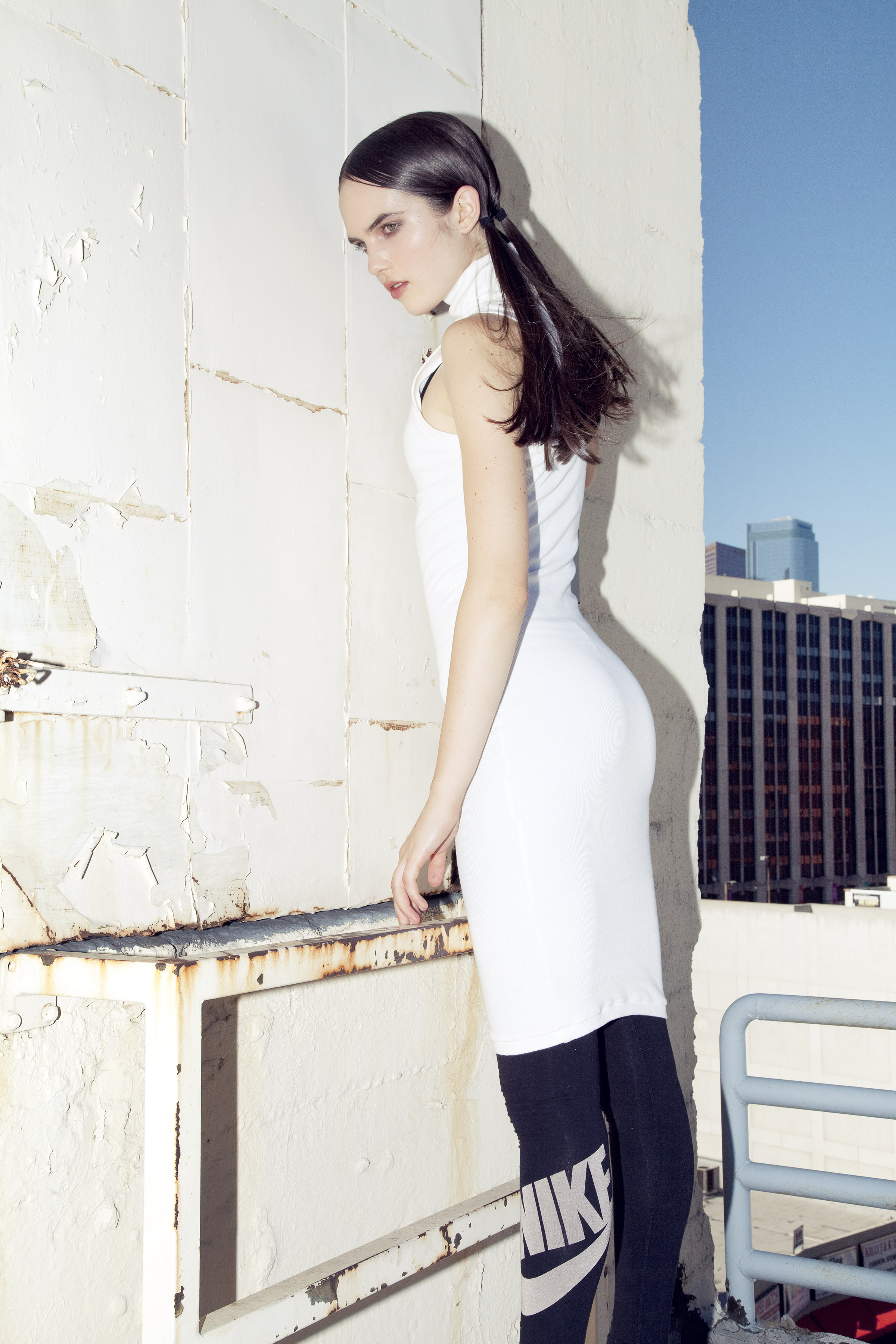 BRAZEN for Ladygunn Mag by Di Henri & styled by Keyla Marquez  (MOCK NECK RIB DRESS)