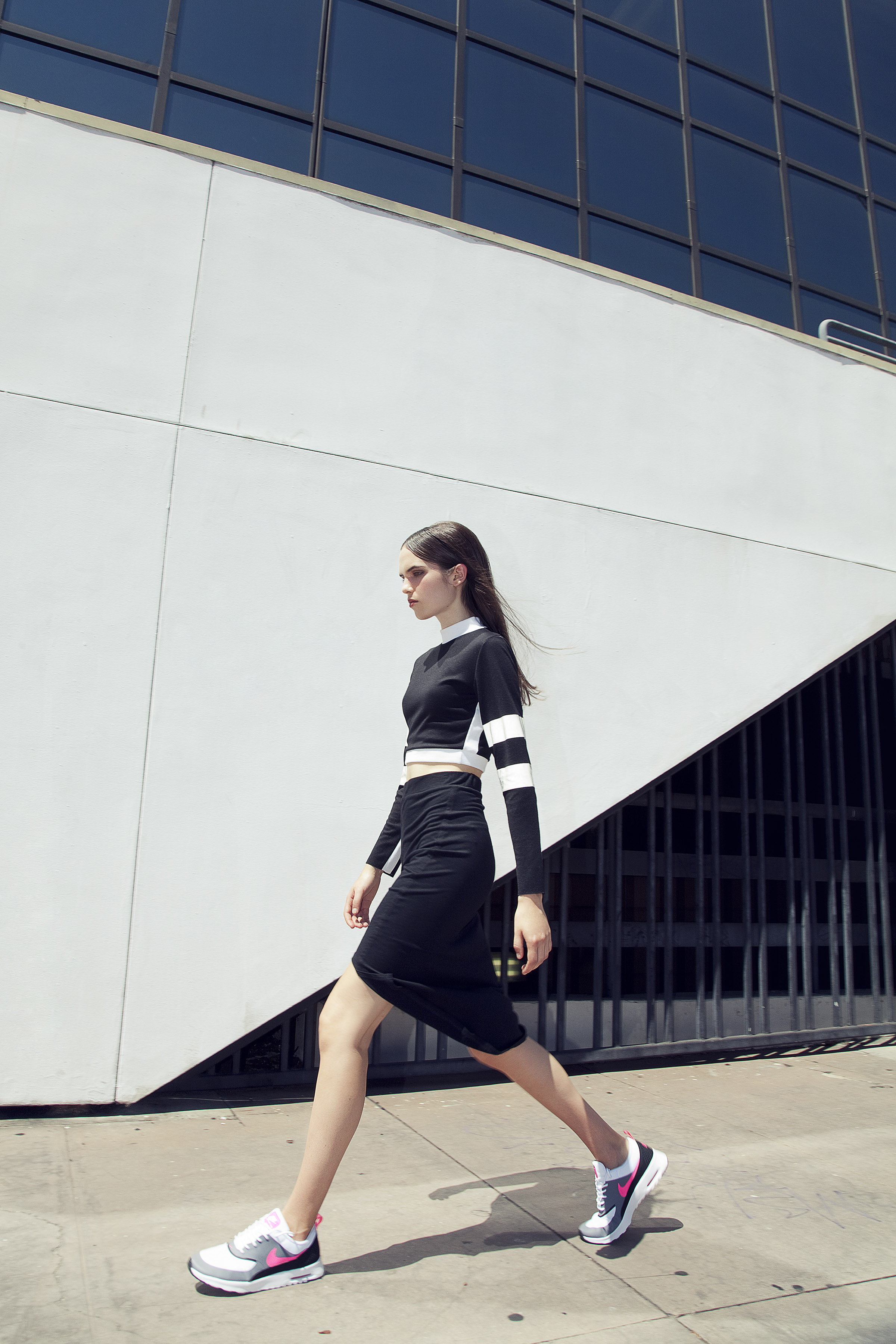 BRAZEN for Ladygunn Mag by Di Henri & styled by Keyla Marquez  (REFLECTIVE STRIPE CROP TOP)
