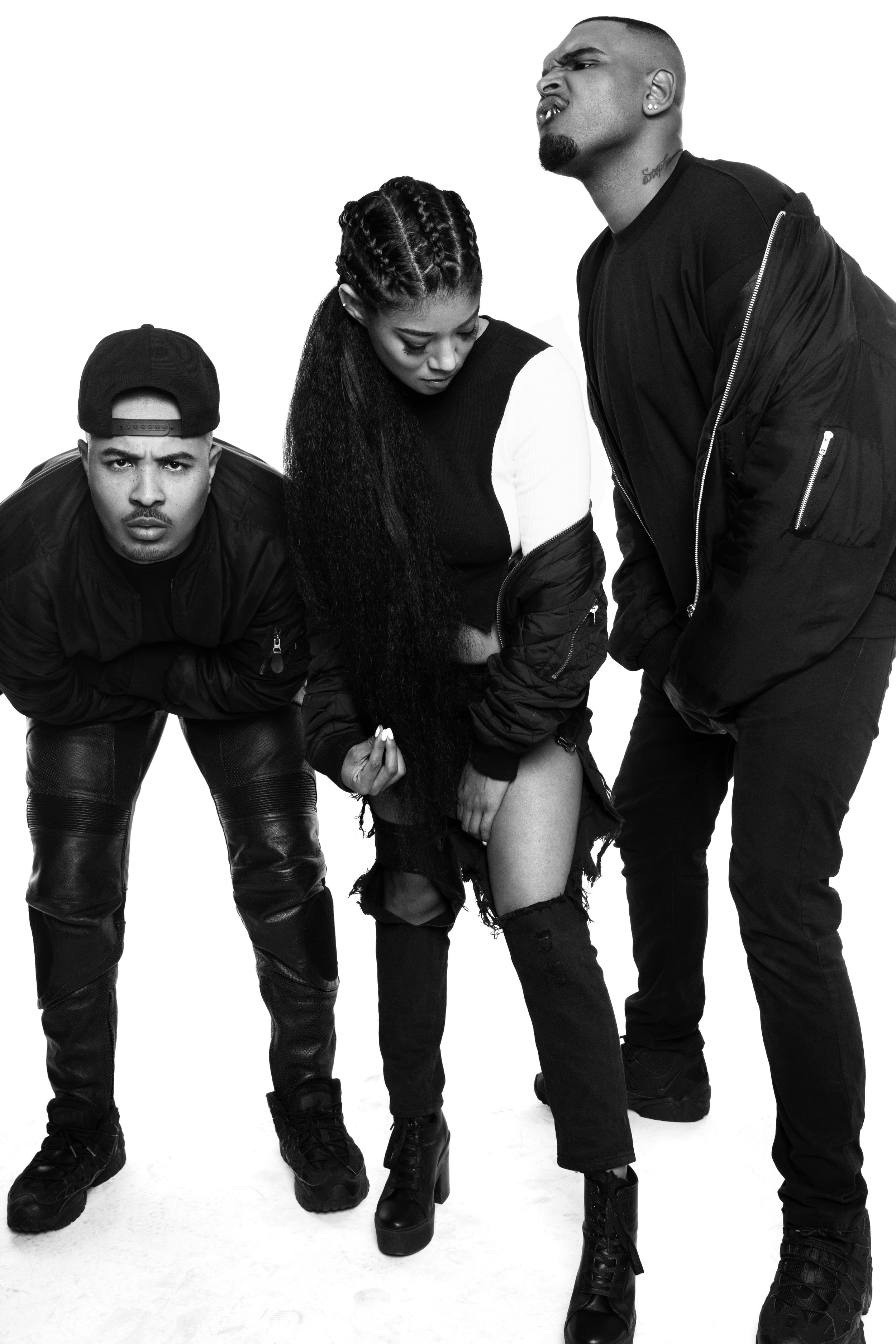 """Mila J with BC Kingdom for their EP """"PRESS PLAY""""   (2in1 RIB TOP)"""