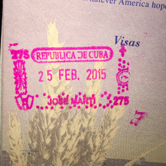 Cuban Entry Stamp