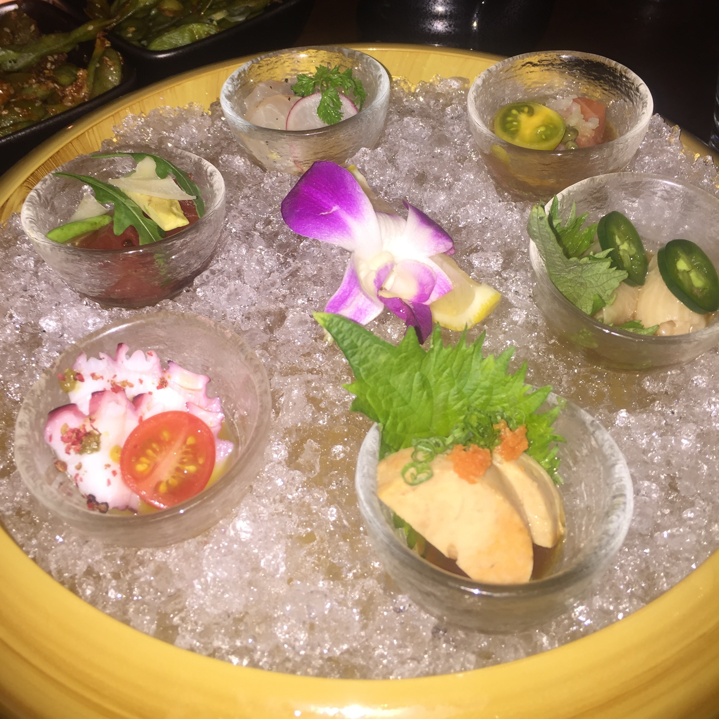 Appetizer at Sushi Roku at the W Scottsdale