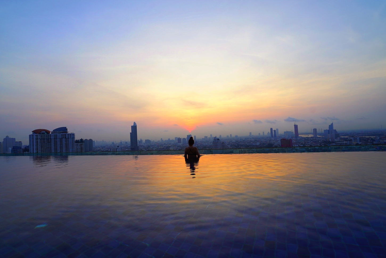 Sunrise overlooking Bangkok