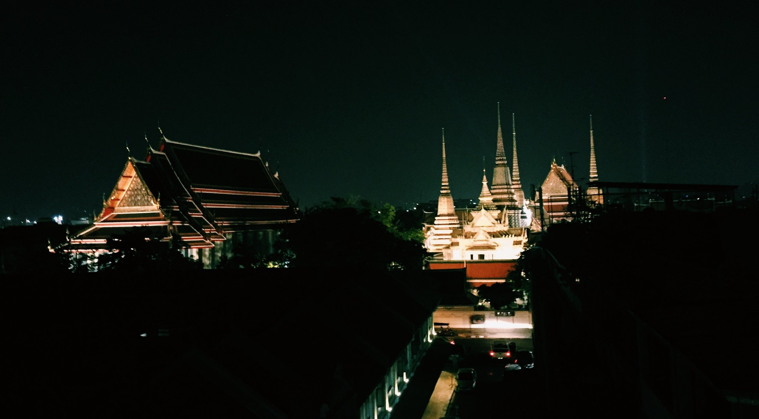 View of Wat Pho from Sala