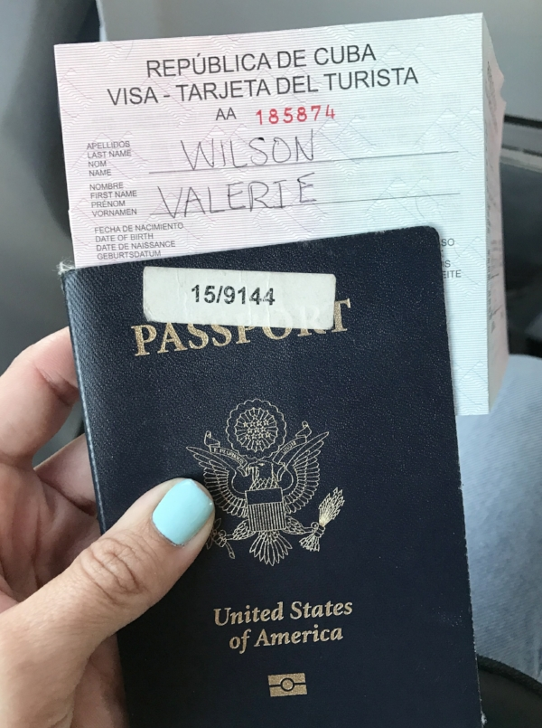 cuban visa american passport
