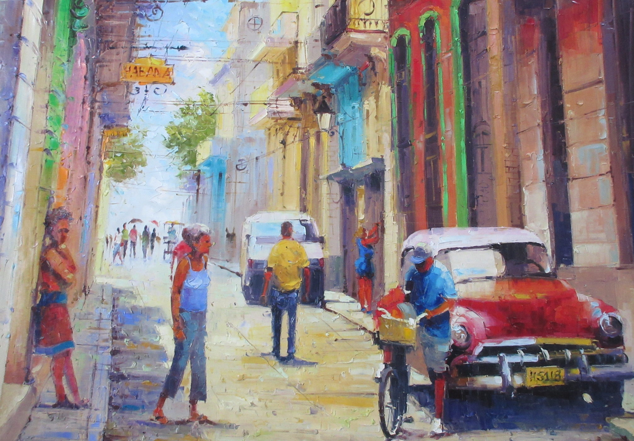 A painting from the handicraft market in Havana