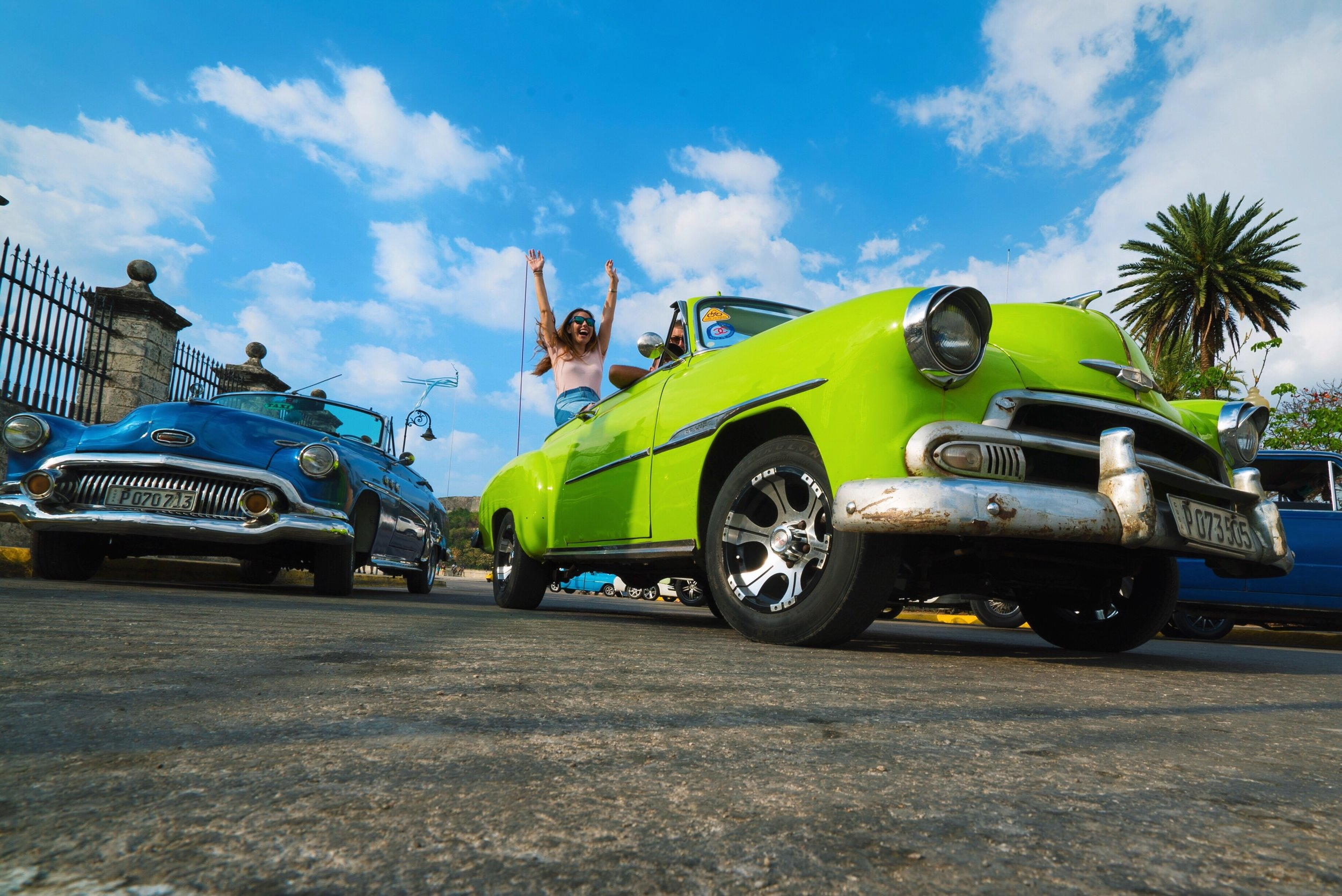 lime green car havana cuba
