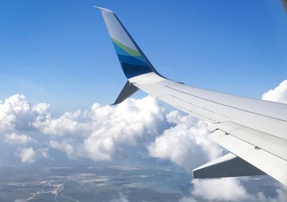plane sky cuba