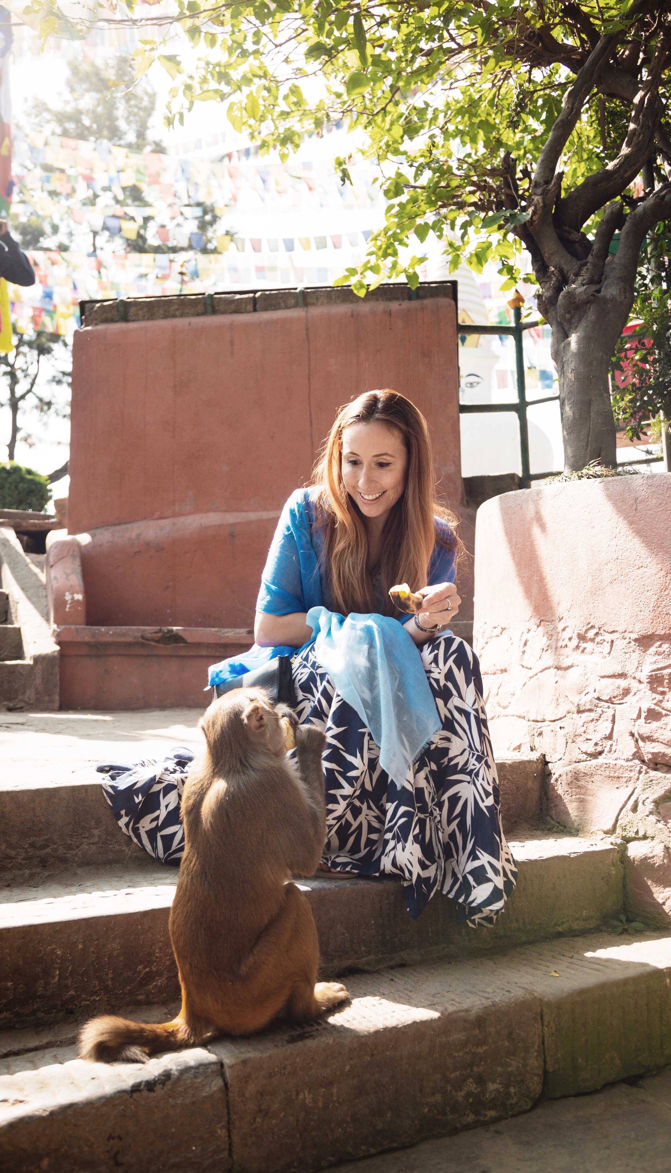 monkey temple nepal trusted travel guide girl
