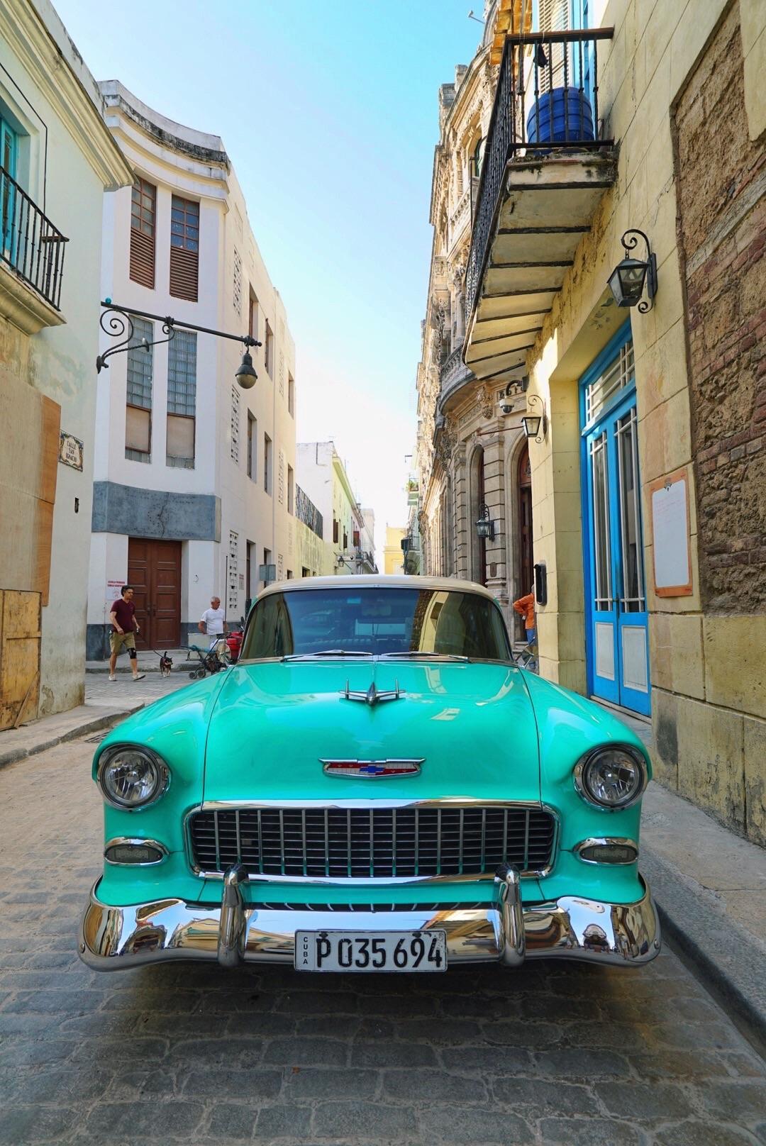 cuba havana street and car