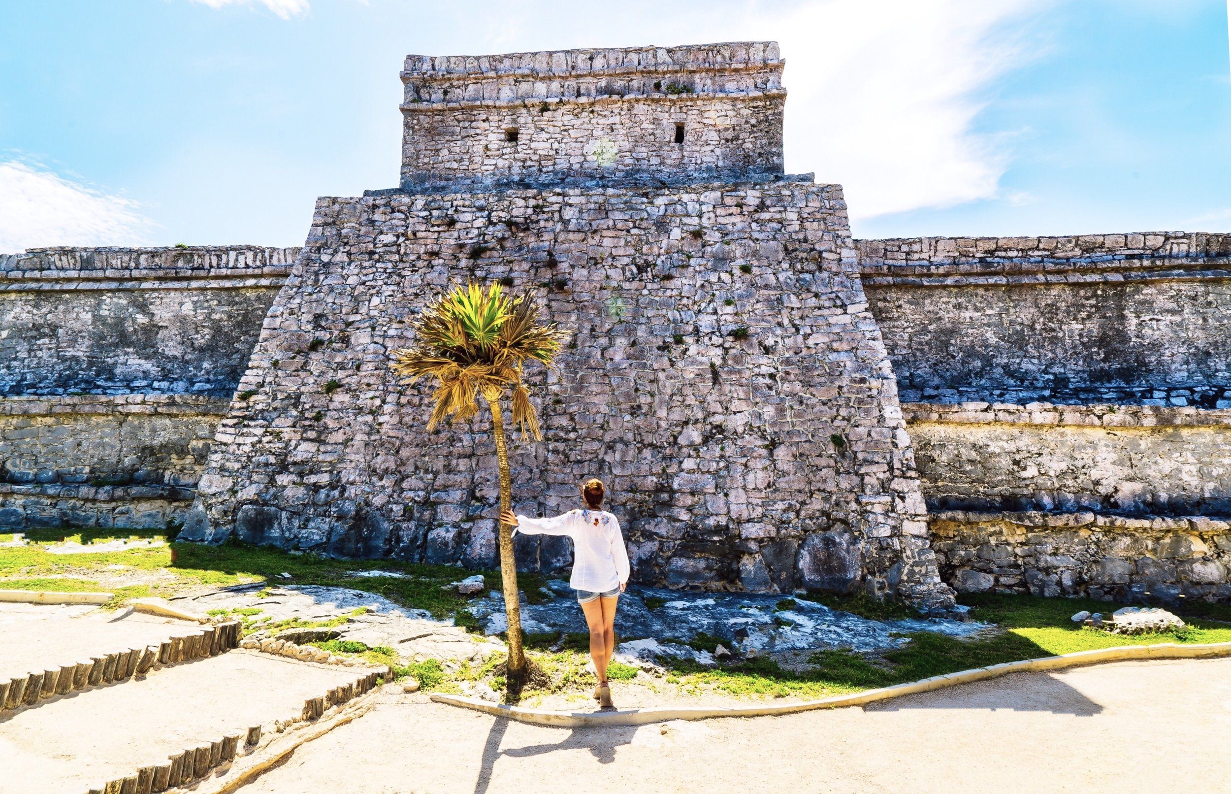 tulum mexico mayan ruins on ocean travel