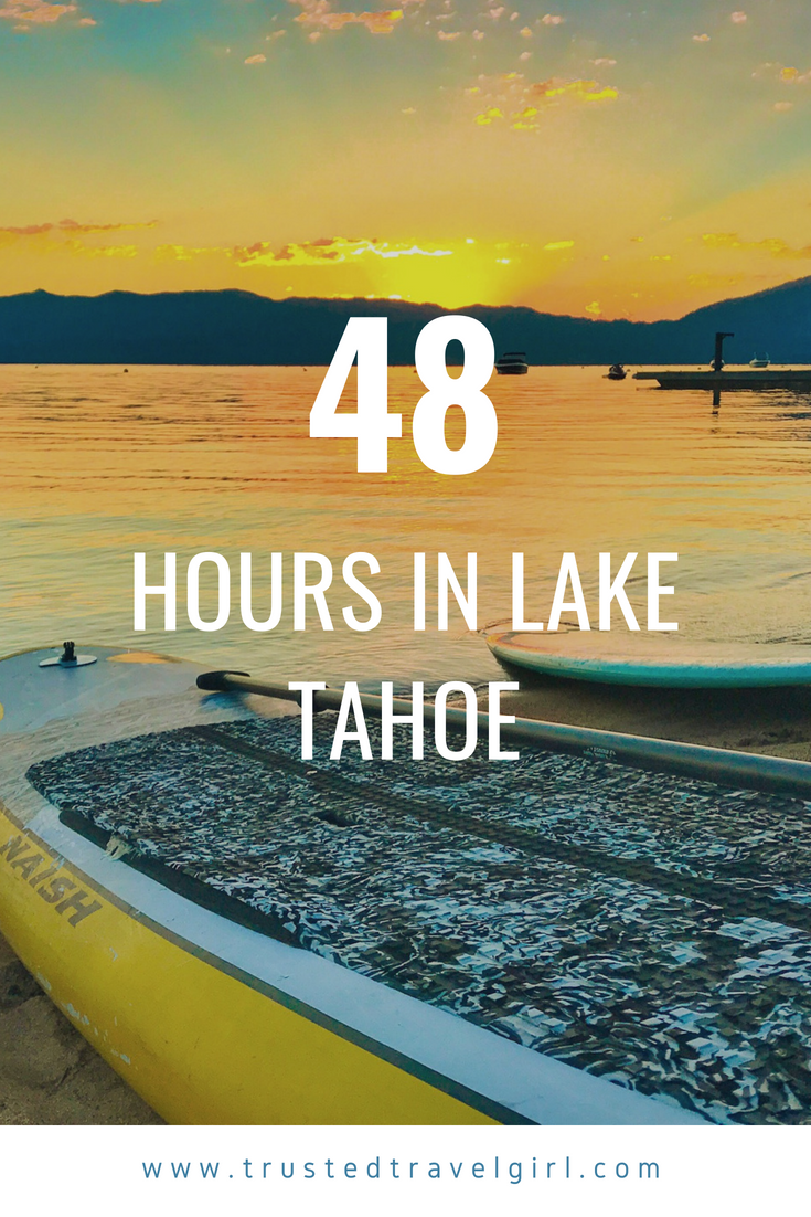 Are you looking for a fun weekend itinerary for Lake Tahoe in Nevada? Check out this 48 hour guide for Lake Tahoe in the summer. We will tell you exactly what to do and see each day including where to eat in Lake Tahoe, where to see the sunrise in Lake Tahoe, fun things to do in Lake Tahoe, adventurous activities in Lake Tahoe, and more. Save this to your Lake Tahoe board so you can find it later. #laketahoe #nevada #itinerary