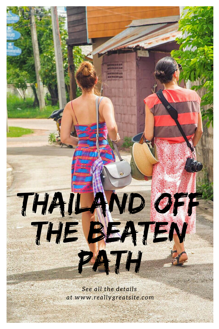 Thailand is absolutely beautiful, especially when you venture off the beaten path in Thailand. We will tell you 4 places to visit in Thailand for an authentic Thailand experience. Our favorite Thailand destinations are not places most tourists go. Come check out our favorite Thailand places and save it to your travel board so you can find it later. #thailand