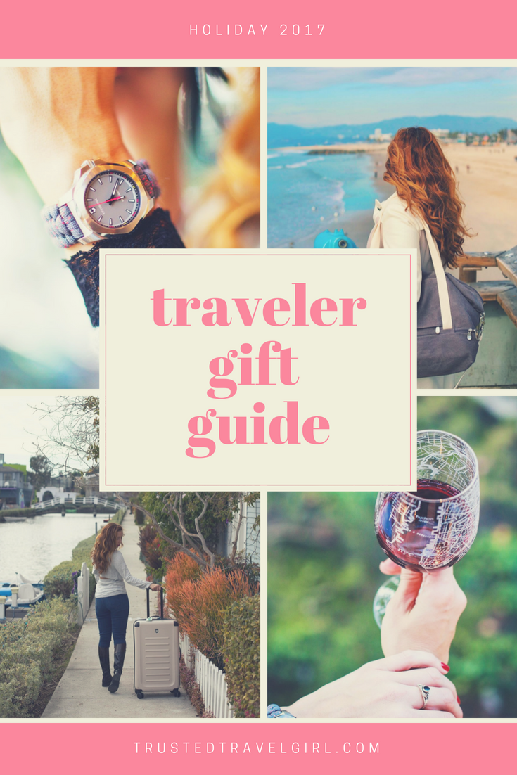 Choosing the perfect gift for travelers can be difficult, but we're here to save the day. We chose some of the best traveler gifts including cool travel decor, our favorite travel luggage, things to stay comfortable when traveling, and more! Come check out these amazing holiday gifts for travelers and save it to your gift board. #giftguide #travelgifts