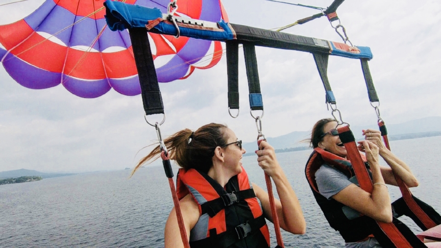 parasailing in lake george NY best things to do in lake george NY
