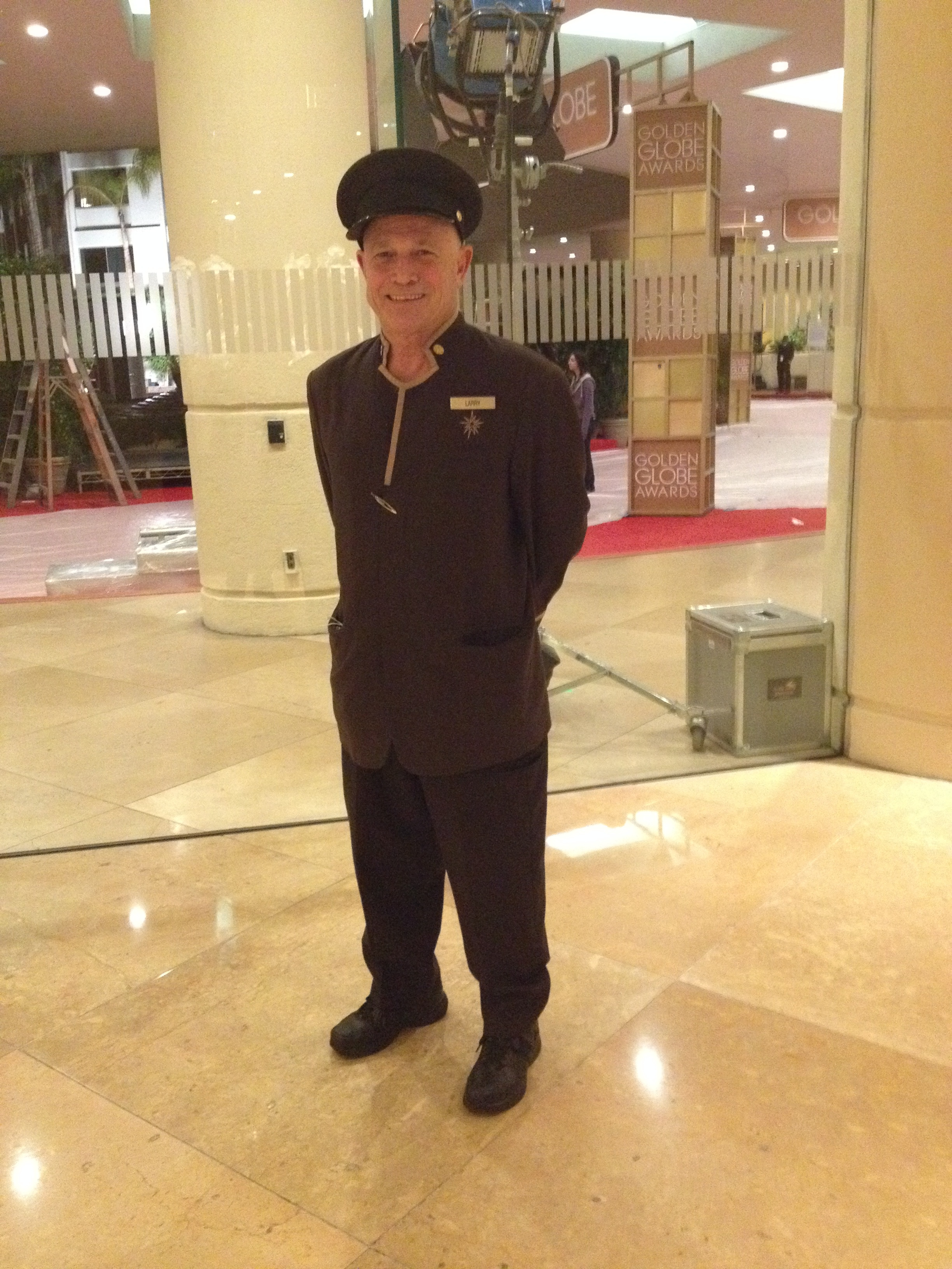 How much do you tip your bellman or doorman? This is my favorite doorman, Larry, at the Beverly Hilton.