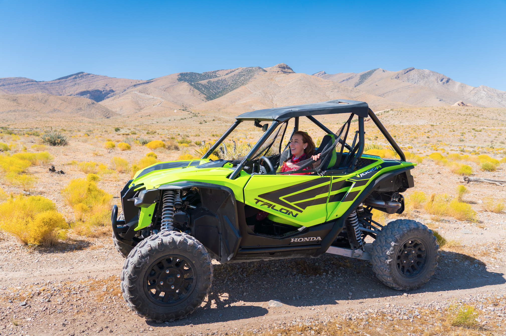Driving ATV's in the Mojave Desert is one of the best day trips from Las Vegas