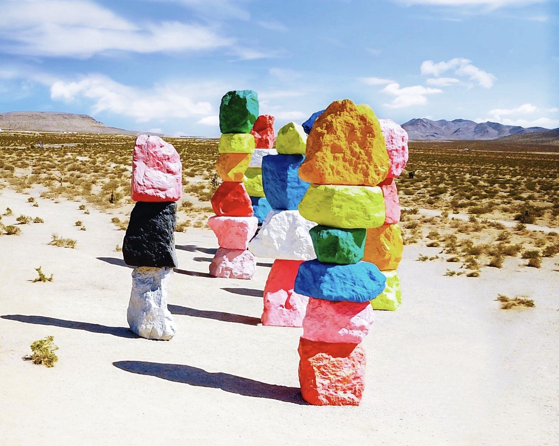 Perhaps the quickest day trip from Las Vegas is an outing to Seven Magic Mountains