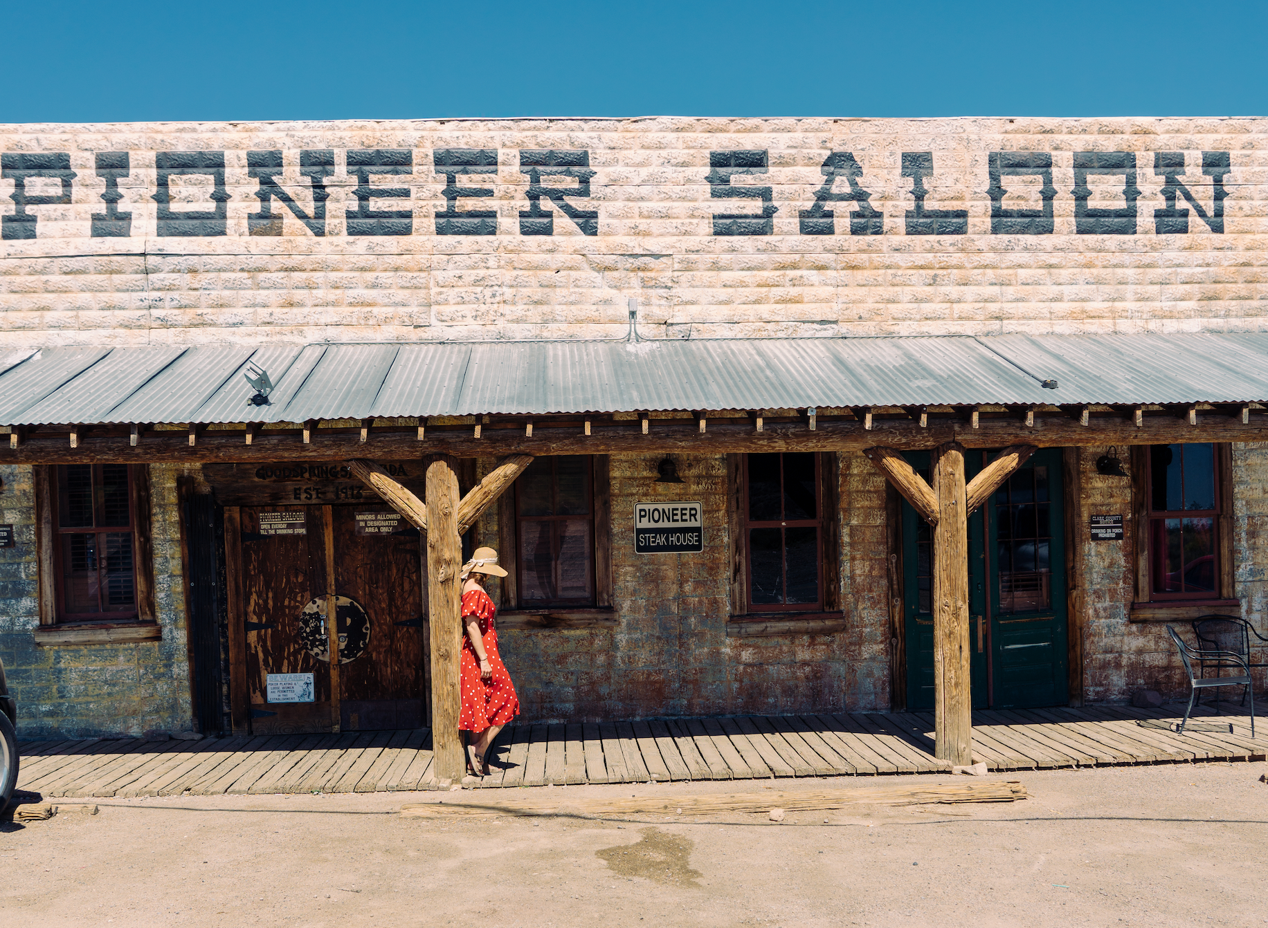 The Pioneer Saloon has been around for over 100 years. It's a perfect day trip from Las Vegas!