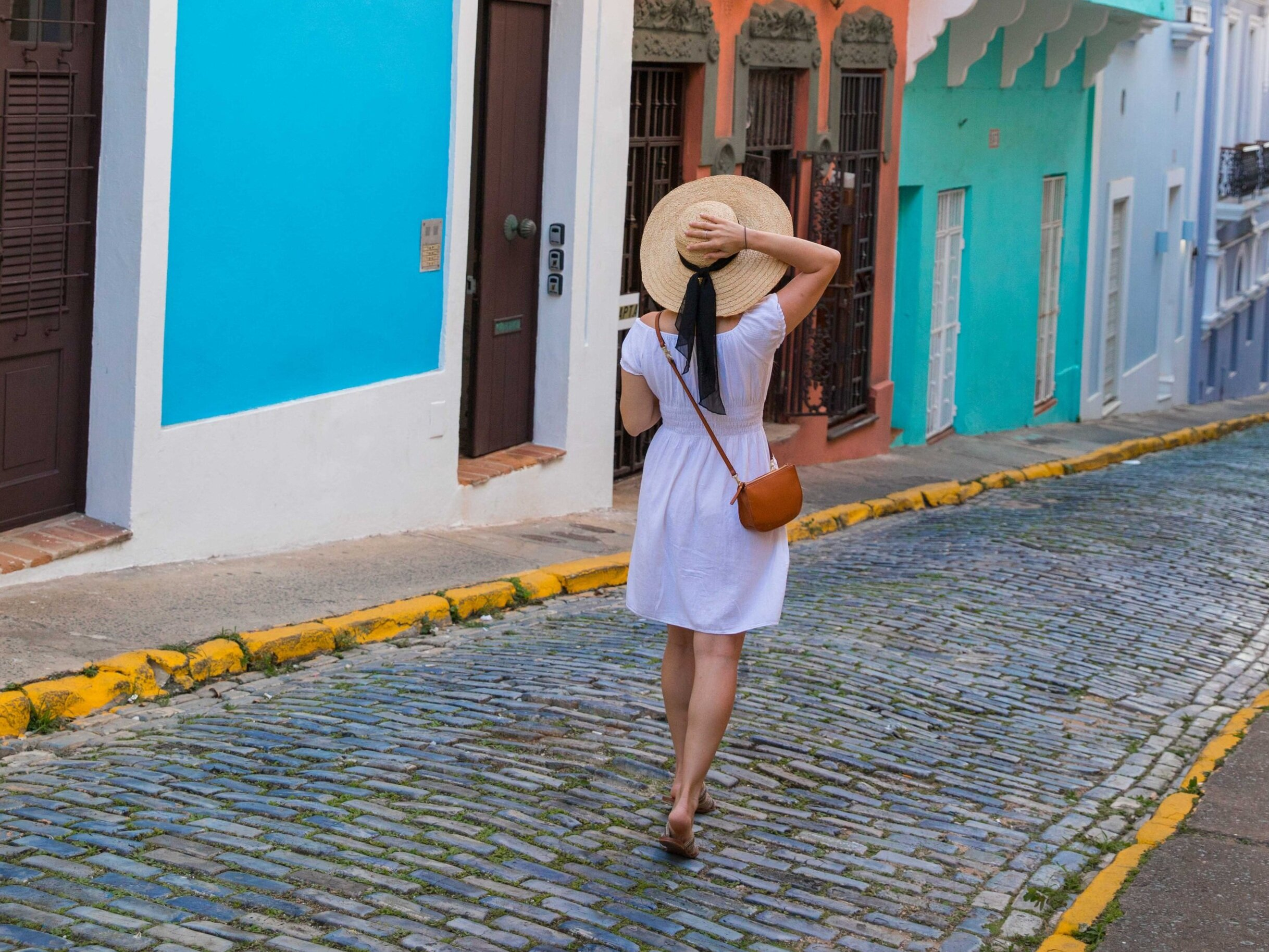 Traveling in Puerto Rico with my Waverly Cross Body Bag by Lo & Sons. They make the best camera bags for women, as well!