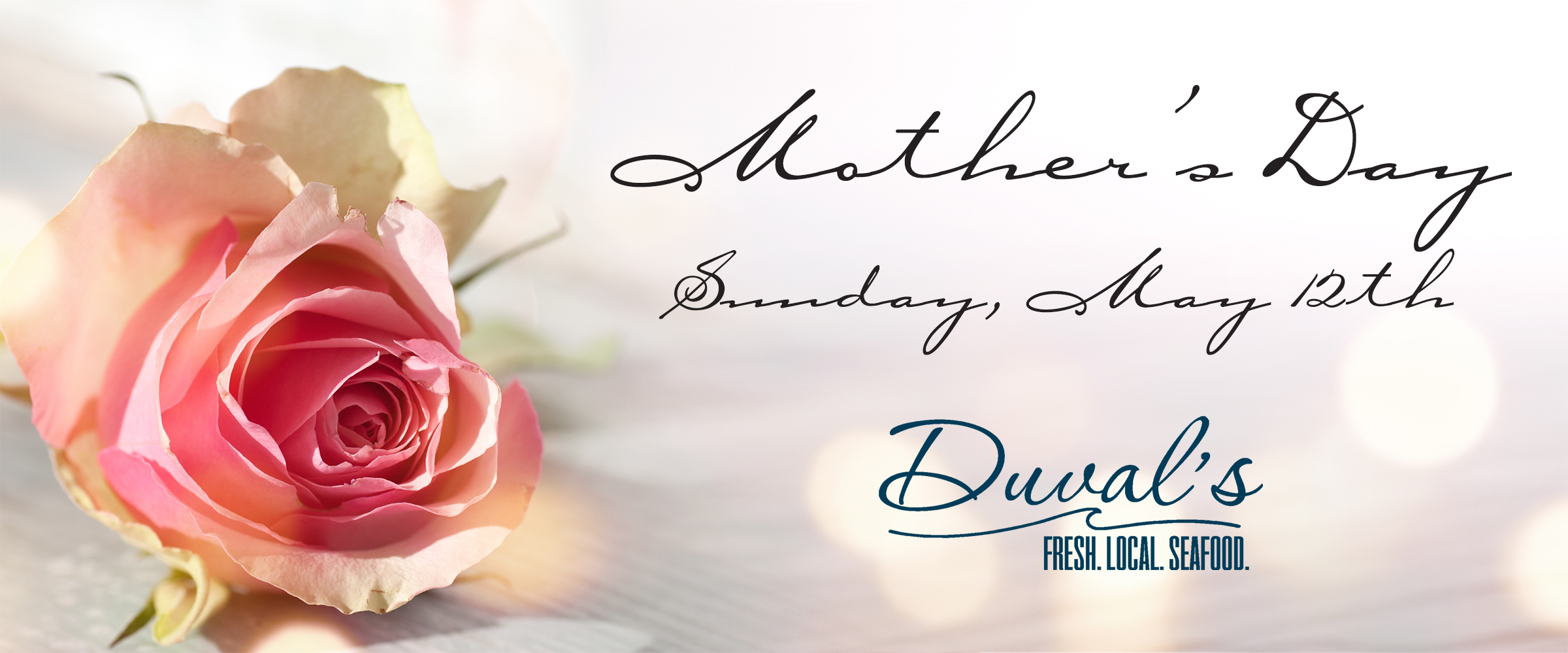 Celebrate Mother's Day with us for Brunch or Dinner.