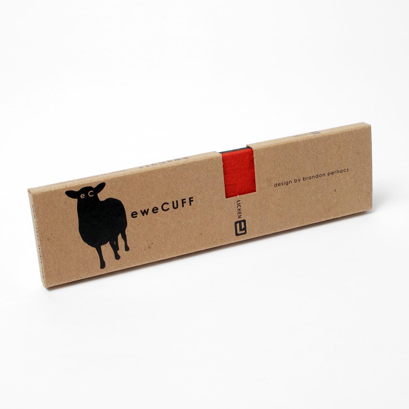 Package design for felt cuff bracelet.
